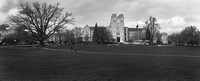 Virginia Tech Burruss Hall Panorama in Black and White